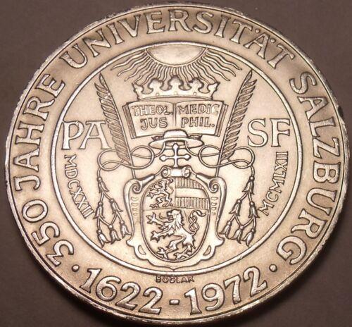Unc Silver Austria 1972 50 Schilling~350th Anniversary Of Salzburg University~FS