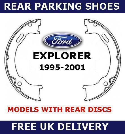Pour ford explorer 4.0 arrière main frein à main frein de stationnement chaussures set 1995-2001