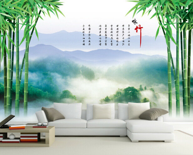 3D Mountain Bamboos 7 Wall Paper Murals Wall Print Wall Wallpaper Mural AU Lemon