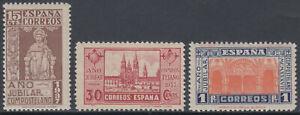 Serie-Annee-Jubile-Compostela-833-835-Annee-1937-MNH