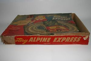 1950-039-s-Automatic-Toy-Co-Alpine-Express-Trolley-Set-with-Box