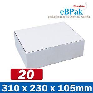 20x Mailing Box Diecut Carton 310 x 230 x 105mm A4 BM BX2 Size