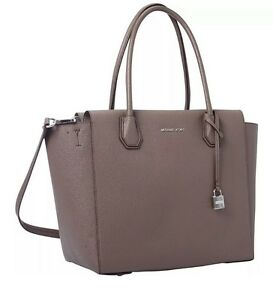 8327a16cba21 MICHAEL KORS Studio Leather Mercer Large Satchel Tote Bag Cinder NEW ...
