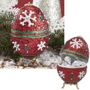 Winter-Magic-Collector-Egg-Sequin-amp-Beads-Kit-Beaded-Easter-Egg-Kit-NEW