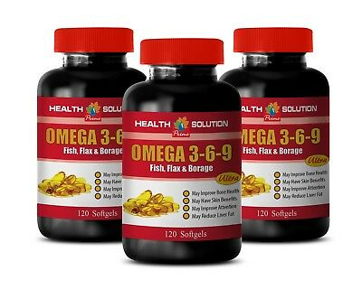 Flax Oil Supplement Omega 3 6 9 3600mg Blood Sugar Support 3