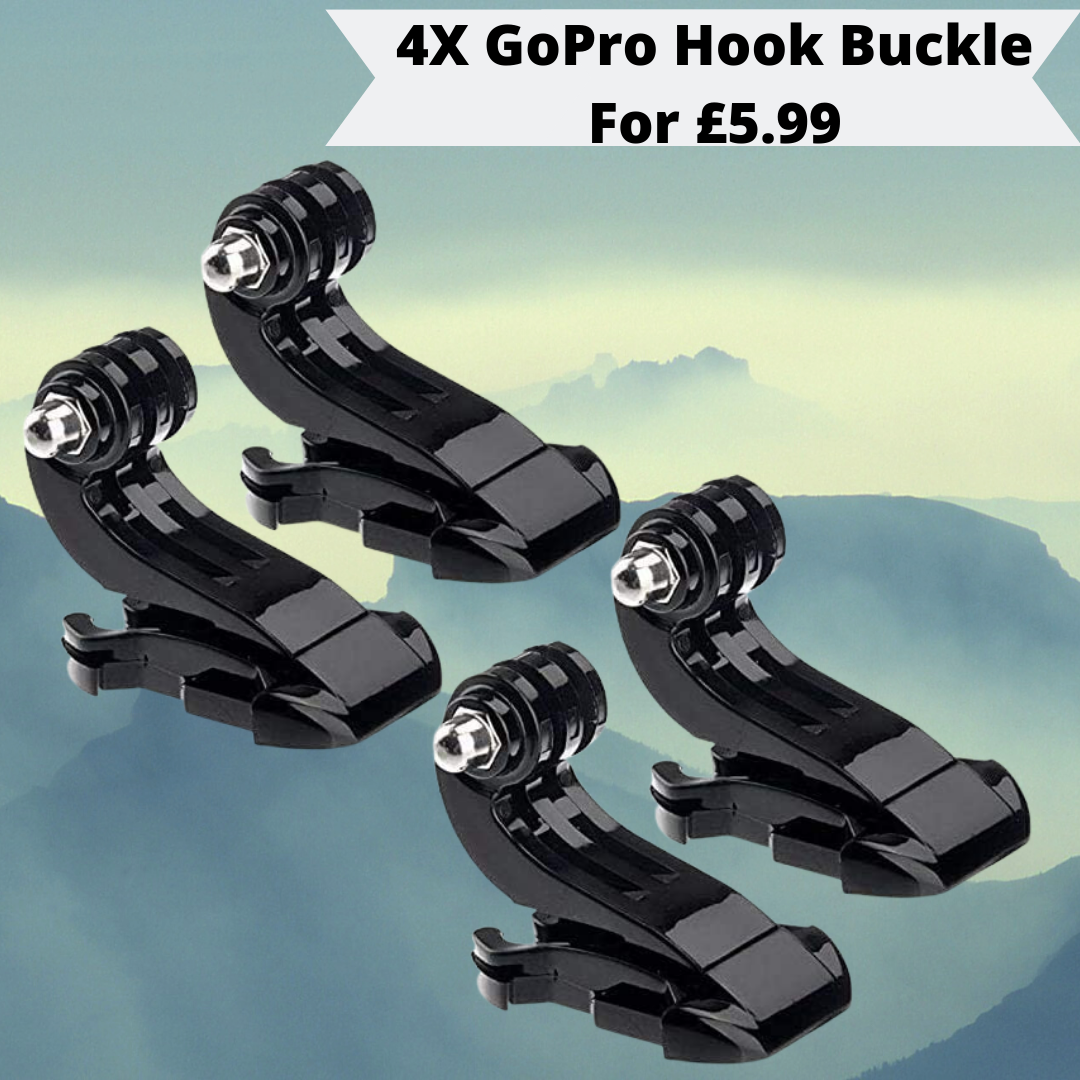 4x Vertical Surface J Hook Buckle Clip Mount For GoPro HD Hero 1 2 3 3+ 4