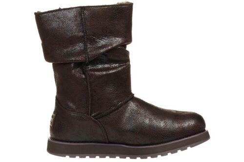 Stiefel Damen Gefüttert Choc Esque Winterschuhe Keepsakes Skechers Leather qYH8t8I