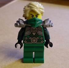 Lego Ninjago Figur - Lloyd Garmadon mit Rüstung ( grün Armor silber blond ) Neu