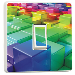 3d Colourful blocks abstract light switch cover 3d design bedroom 10486906 - bridgend, United Kingdom - Returns accepted Most purchases from business sellers are protected by the Consumer Contract Regulations 2013 which give you the right to cancel the purchase within 14 days after the day you receive the item. Find out more about - bridgend, United Kingdom