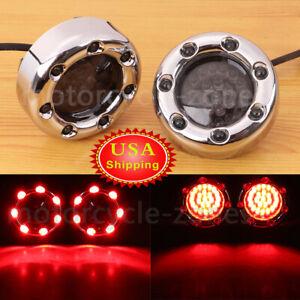 1Pair LED 1157 Smoke Lens Turn Signal LED Bullet Light Fit For Harley Fatboy