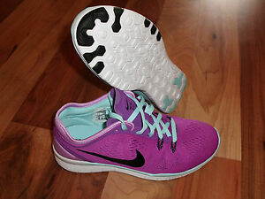wholesale dealer 93be0 9bec2 Details about Nike Free 5.0 Tr Fit 5 Running Training PURPLE/BLACK 704674  500 Women SZ 5.5