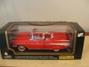 1957-Chevrolet-Bel-Air-Convertible-Red-1-18-Diecast-Model-timeless-collection