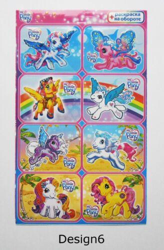 My Little Pony  Sticker Sheet 4x6/'/' 10x15cm