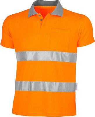 Warnschutz Polo-Shirt atmungsaktiv/ Warnschutz Shorts gelb oder orange wahlweise