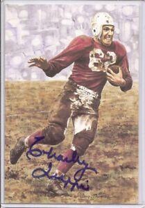 1990 Charley Trippi Goal Line Art Postcard Signed/Autographed