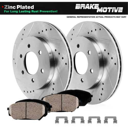 Ceramic Pads For 2004 2005 QX56 Armada Titan Front Drill Slot Brake Rotors