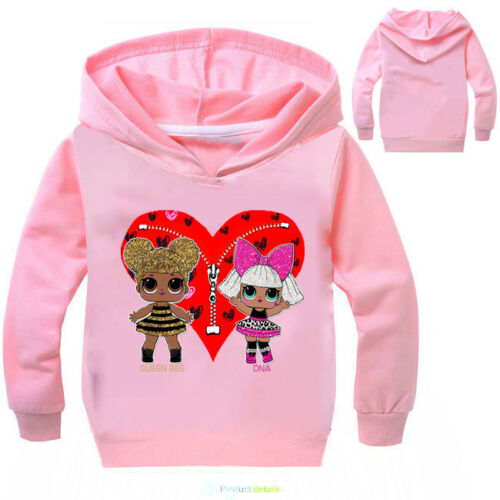 LOL Surprise Doll Kids Girls Hoodies Sweatshirt Jumper Pullover Tops Xmas Gift