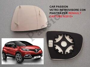 /> Gloss Nero Porta RETROVISORI Copertura N//S Passeggero Sinistro RENAULT CAPTUR 2013