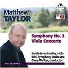 Matthew Taylor - : Symphony No. 2; Viola Concerto (2013)
