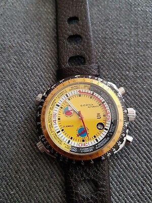 Automatikuhr Nos Style Gelbes Ziffernblatt Ungetragen Armbanduhr Neu Gut FüR Energie Und Die Milz