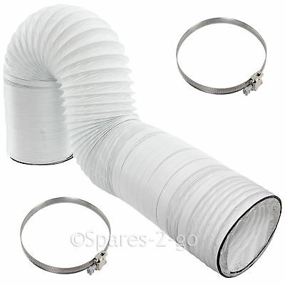"10m Extra Long Vent Hose 4/"" Strong Jubilee Clip for WHITE KNIGHT Tumble Dryer"