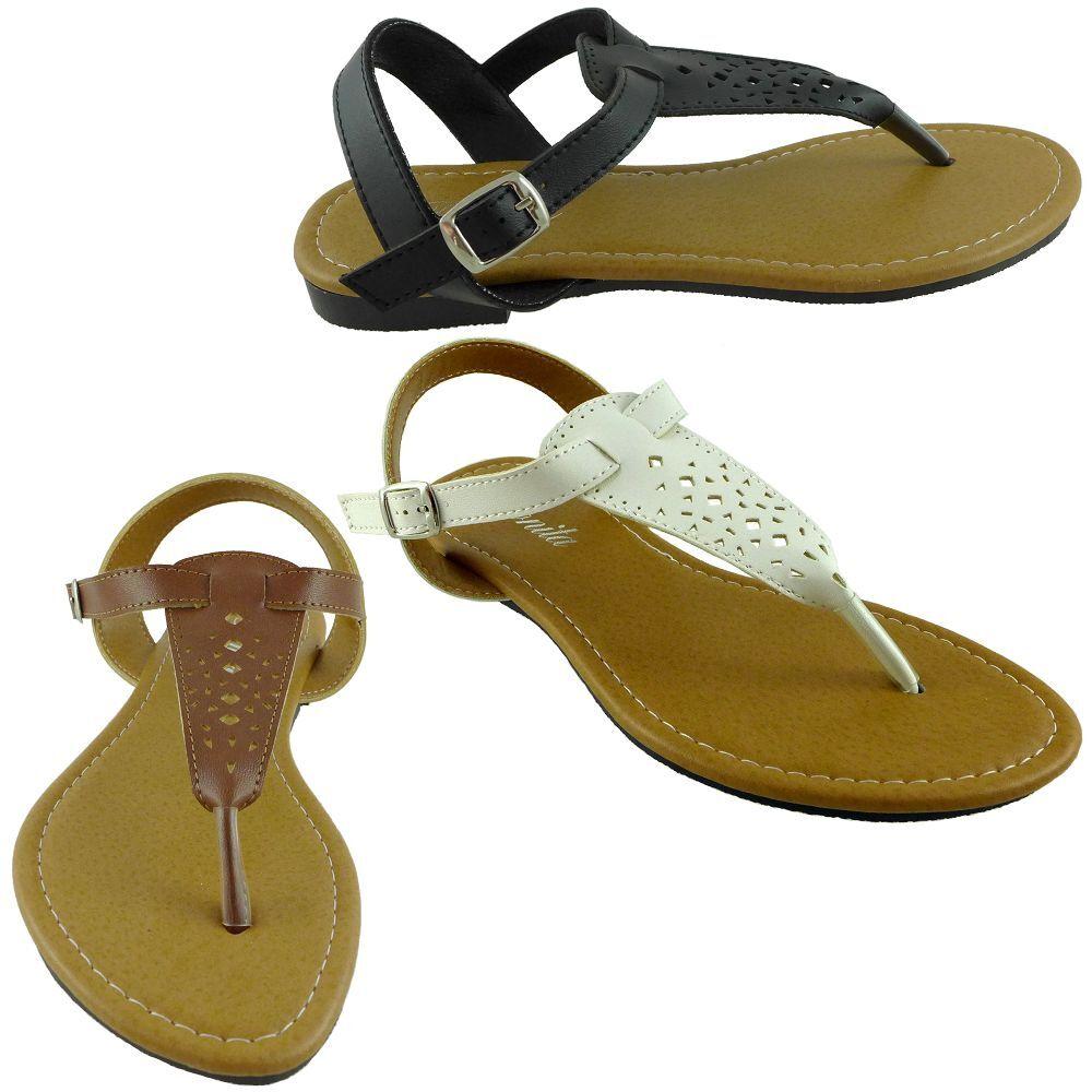 VENUS-14 Women Sandal Faux Size Leather Adjustable Strap Flat Shoes Size Faux 5,6,7,8,9,10 970248