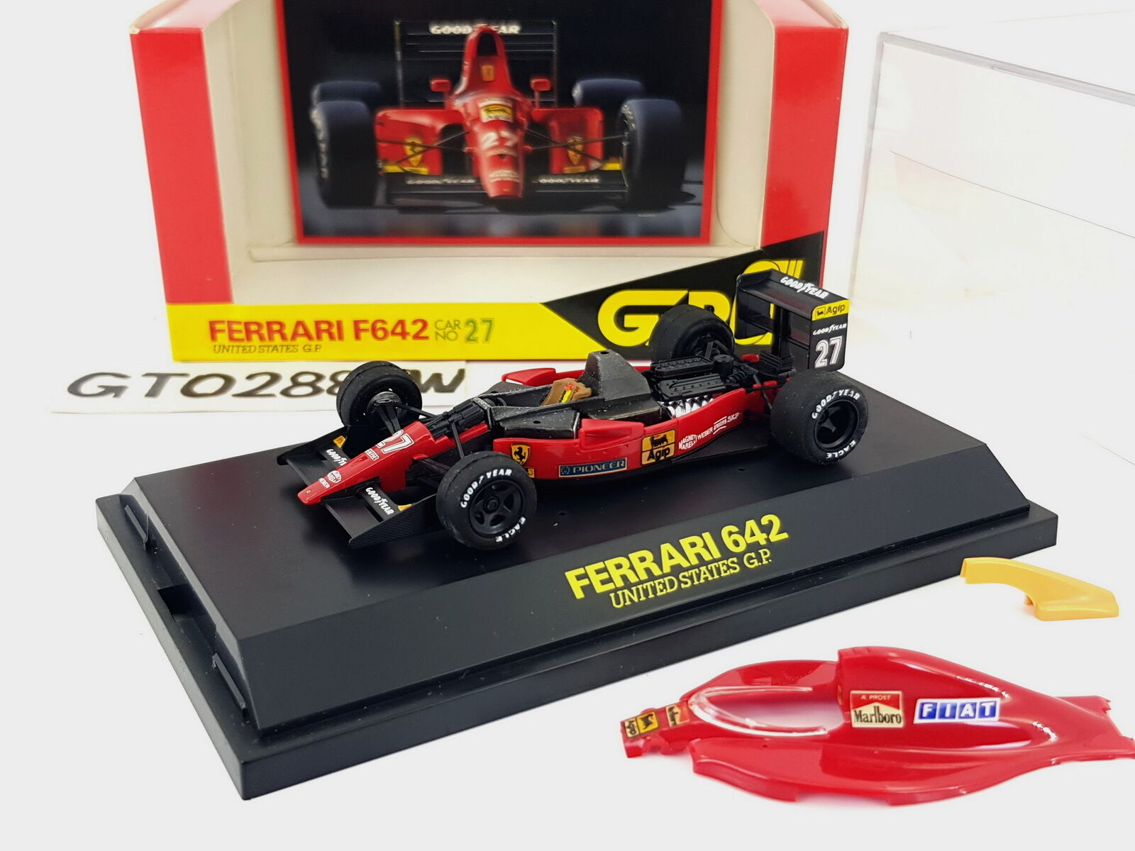red 1 43 Ferrari 642(F642) 642(F642) 642(F642) F1 U.S GP 1991 Alain Prost(FULL V12 ENGINE Tobacco) ab292d