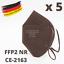 Indexbild 42 - ✅5 Stk FFP2 Maske Bunt Farbig 5-Lagig Atemschutz DEUTSCHER HÄNDLER ✅ TÜV ✅ CE ✅
