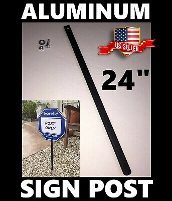 Metal Yard Sign Post 24 Quot For Adt Brinks Simplisafe Ring