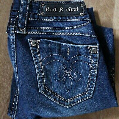 Rock Revival Women/'s Premium Skinny Black Denim Jeans Woven Pants Noelle S54