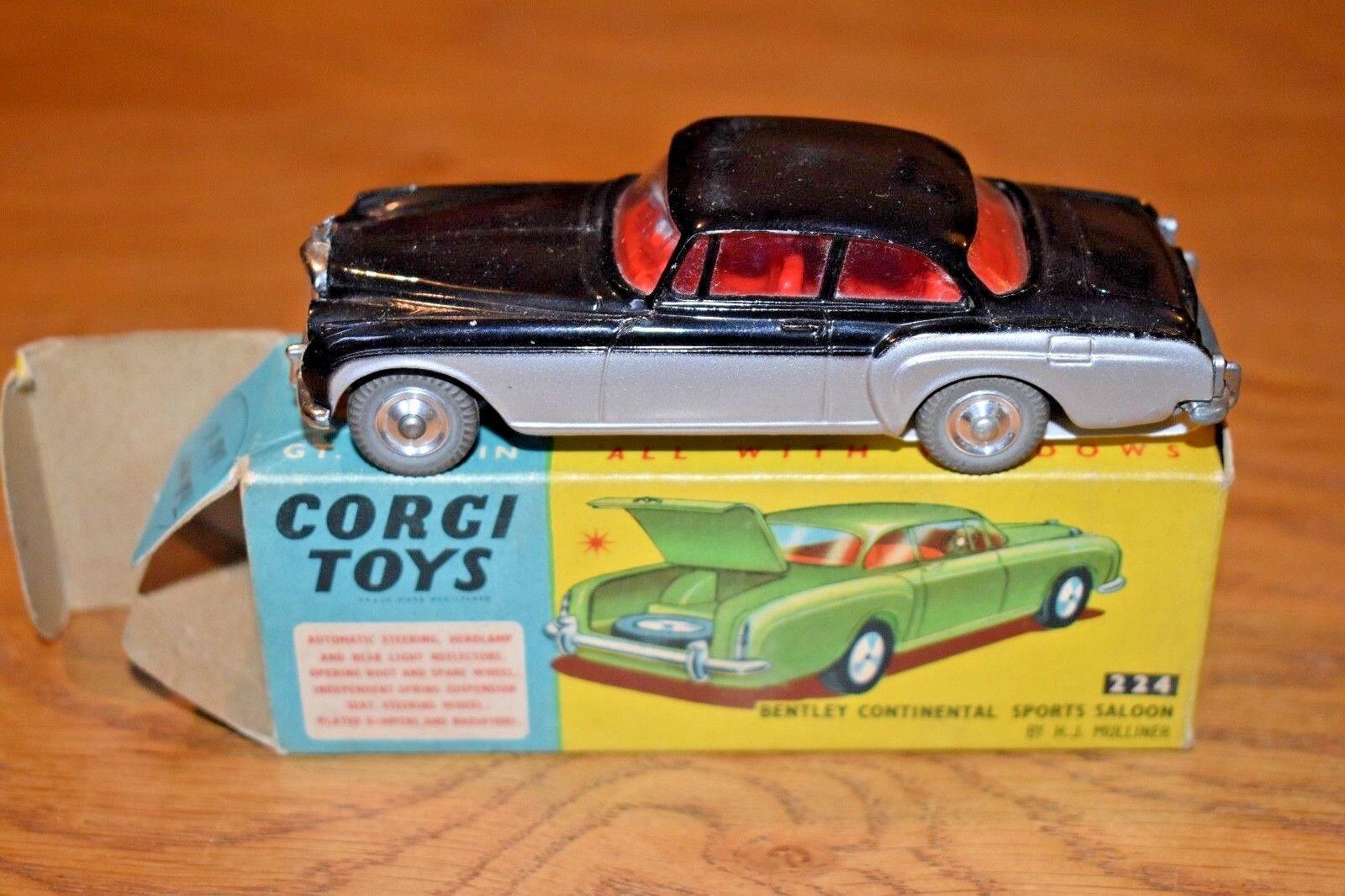 Corgi Toys 224 Bentley continental sports saloon; Original Box