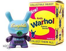 Campbell's Blue - Kidrobot Andy Warhol Dunny Series Vinyl Figure Brand New