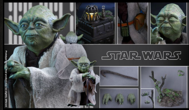 HOT TOYS MMS369 YODA STAR WARS EPISODE 5 EMPIRE STRIKES BACK 1/6 FIGURE COMPLETE