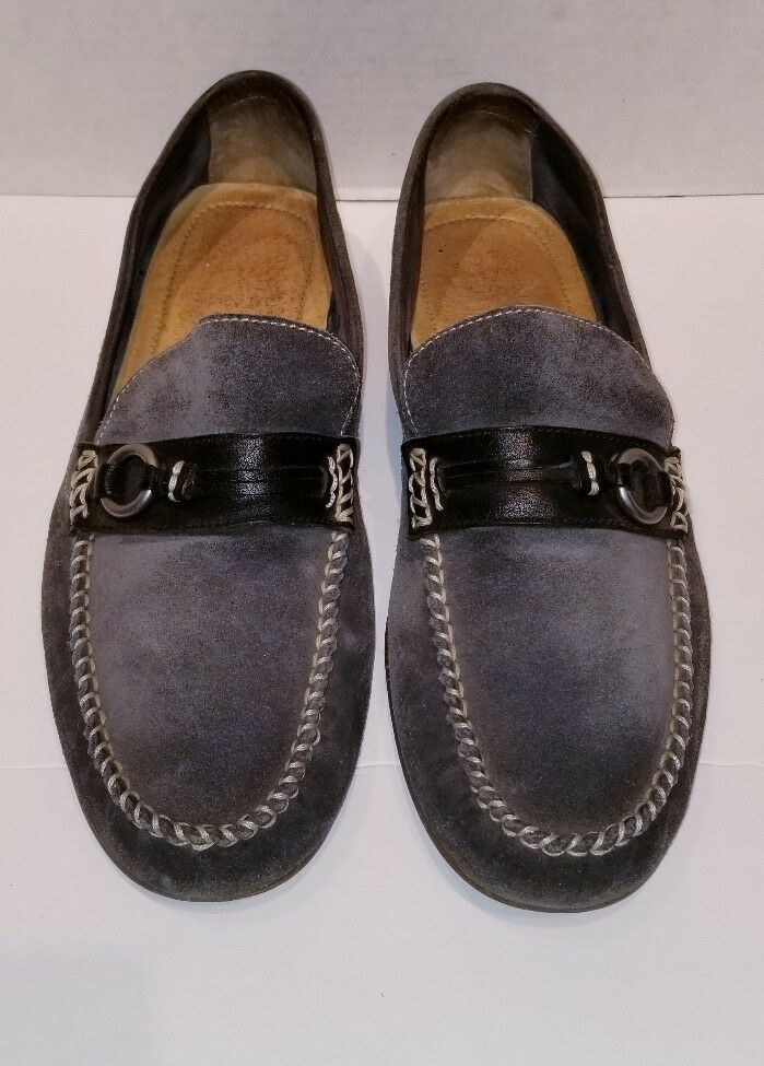 FRYE Men's Grey Suede Loafers Size 11