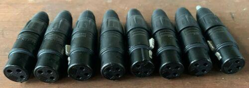 8 Stück Neutrik NC3FX-B 3polige XLR Kabelbuchse schwarz-verchromtem Gehäuse