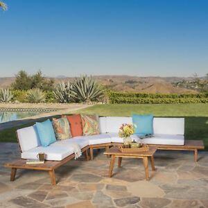 Hillside-Outdoor-V-Shaped-4-Piece-Acacia-Wood-Sectional-Sofa-Set