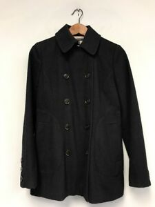 60% cheap marketable hot-selling genuine Details about Women Tommy Hilfiger Coat Jacket Navy Wool Blend Double  Breasted Peacoat Size 4