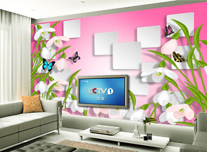 3D Butterfly Green Leaves 40 Paper Wall Print Wall Decal Wall Deco Indoor Murals