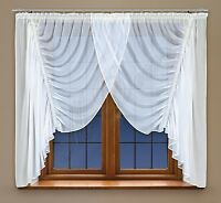 Curtain With Trimming And Made Of White Voile With Curtain Tape