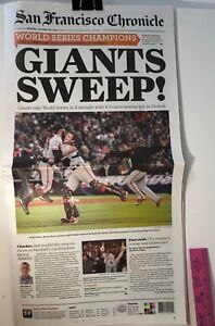 2012-SAN-FRANCISCO-GIANTS-WORLD-SERIES-CHAMPIONS-CHRONICLE-NEWSPAPER-FREE-SHIP