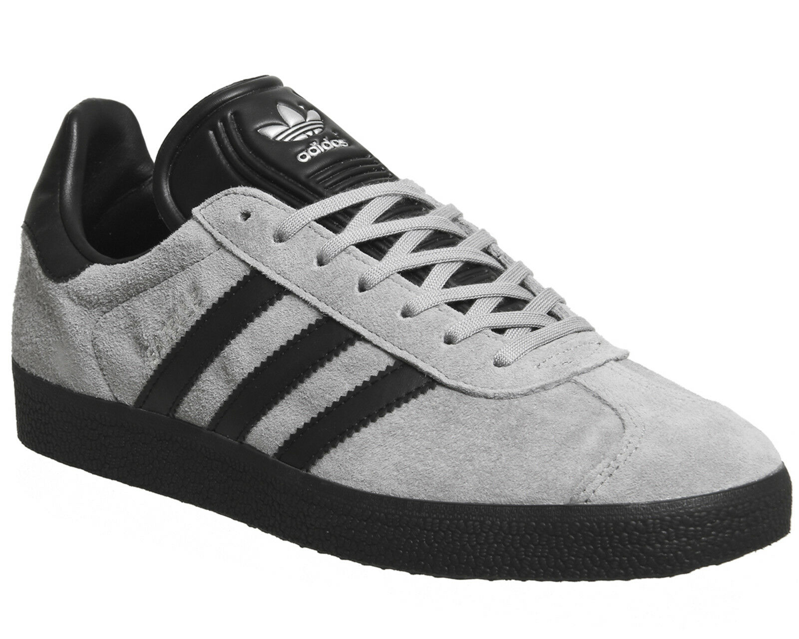 Mens Adidas Gazelle Trainers GREY BLACK EXCLUSIVE Trainers Shoes