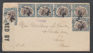 Guatemala-Sc-158-6-on-1918-Censored-Cover-New-Orleans-PAGUEBOT-Censor-039-s-Tape