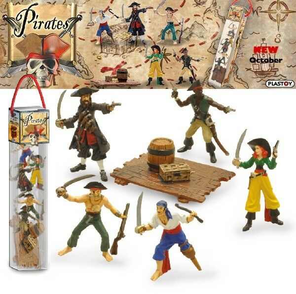 Plastoy - Pirates - Pirate - 6 Figures Set - Neuf   Embal. Origine