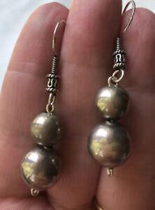 710-Vintage-Navajo-Sterling-Silver-Bench-Beads-Sterling-Earrings