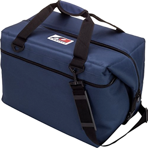 Soft Sided Cooler Canvas with High-Density Insulation, Navy bluee, 36-Can,  New  online shopping