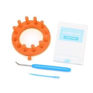 Knitter-Flower-Loom-Knitting-Set-Kit-Make-EMBELLISHMENTS-For-Hat-Scarves