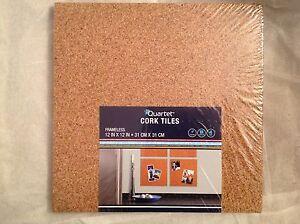 """Quartet Cork Wall Tiles 12 """" X 12 """" Light Cork 4/Pack"""