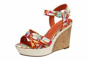 Details zu Marc Sommer Pumps Keilabsatz Gr. 41 Schuhe Sandaletten Damen Sandalen bunt NEU