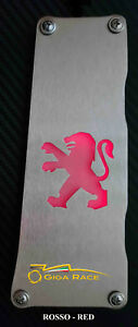 PEUGEOT-CREST-LOGO-LED-FOOT-BOARD-LIT-FOOTREST-FLASHING-PLATE-TUNING