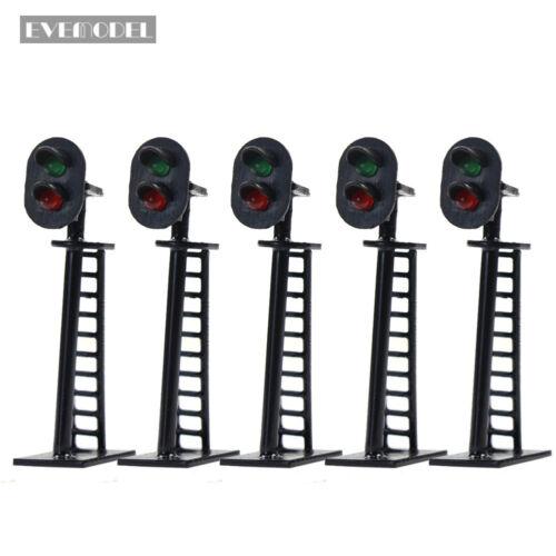Ampeln LED Signal Lichtsignal 40mm 12V rot//grün Spur N JTD05DE Neu 5 Stk
